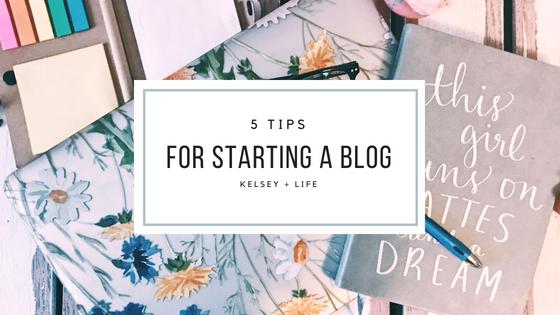 5 Tips For Starting ABlog